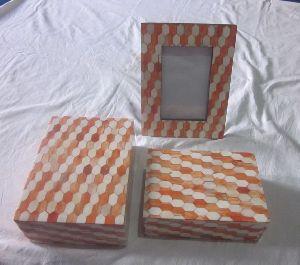 Bone Photo Frame And Box Set 03