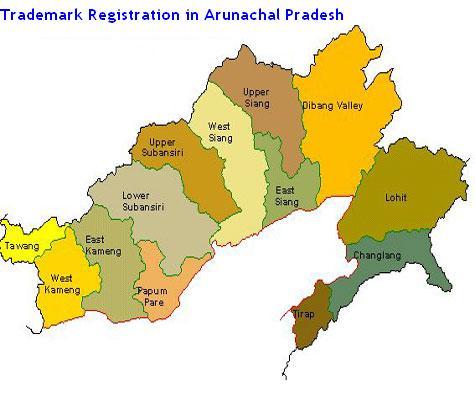 Trademark Registration in Andhra Pradesh Tirap and Itanagar