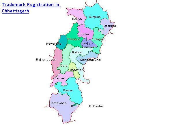 Trademark Registration in Chhattisgarh Bilaspur, Raigarh, Sarguja, Raipur, Durg