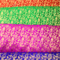 Chanderi Brocade Fabric (09)