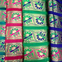 Chanderi Brocade Fabric (01)