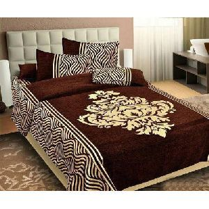 Designer Chenille Double Bed Sheet Set