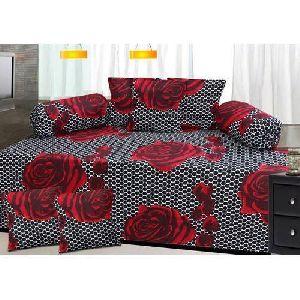 Rose Print Diwan Bed Sheet Set