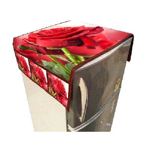 Rose Print Fridge Top Cover