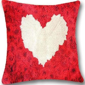 Heart Print Cushion Covers