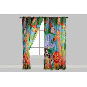 Jungle Animal Print Curtains