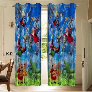 Motu Patlu Print Curtains
