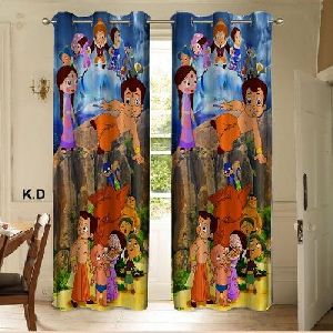 Chota Bheem Print Curtains