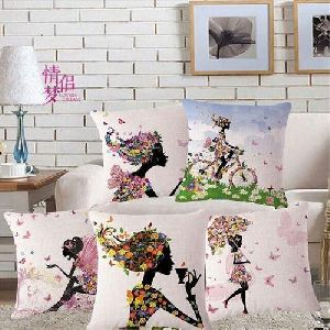 Girl Print Cushion Covers