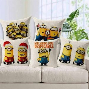 Minions Print Cushion Covers