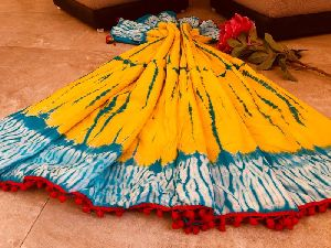 Malmal Cotton Pom-Pom Saree 03
