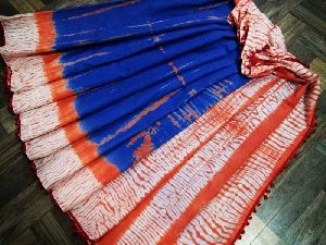 Malmal Cotton Pom-Pom Saree 04