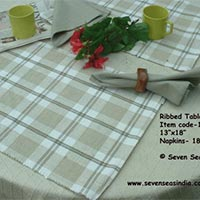 Table Linen : Chek Ribbed 12C