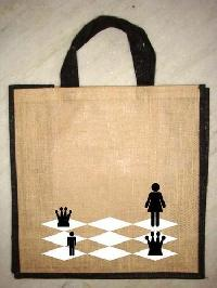 jute bag with dyed handle