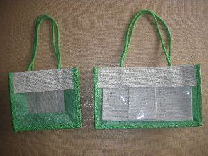 Jute pvc bag with rope handle