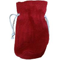 RED JUTE POUCH BAG