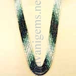 Facetted Shaded Emerald Beads