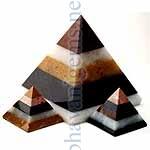 Multi Coloured Agate Pyramids