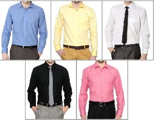 Mens Formal Plain Shirts