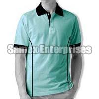 Aqua Multi Colored Polo T-Shirt