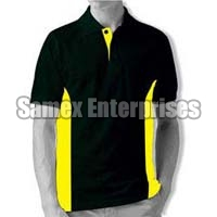 Hunter Green Multi Colored Polo T-Shirt
