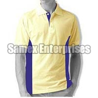 Ivory Polo T-Shirt With Blue Side