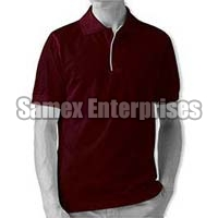 Maroon Polo T-Shirt With White Piping