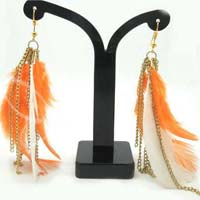 Alloy Metal Feather Fashion Earring (23922)