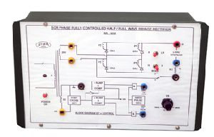 Single phase scr half/full wave fully controlled rectifier