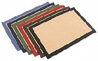 Jute Rug with Colour Cotton Border
