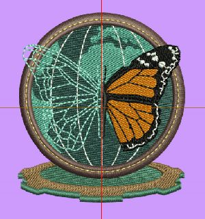 badge embroidery digitizing