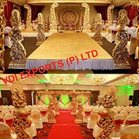 New Fiber Carved Mandap