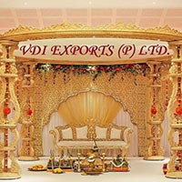 Wooden Look Fiber Wedding Mandap