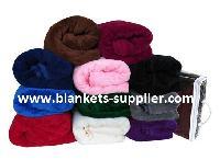 Soft Coral Polar Fleece Blankets