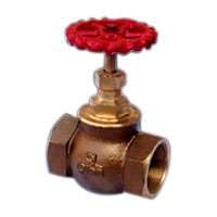 Bronze Globe Steam Stop Valve On W.V. (Q-9)