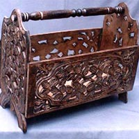 Wooden Magazine Baskets
