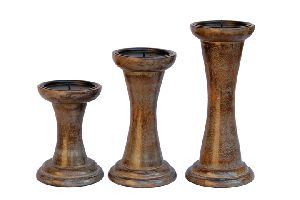 Wooden Candle Holders 04