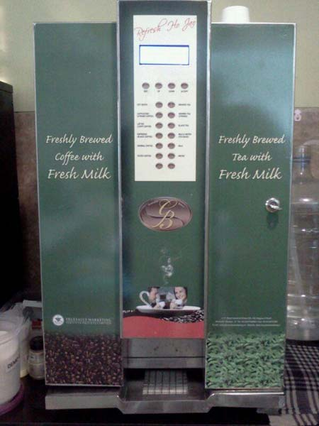 Fully Automatic Fresh Milk Tea Coffee Vending Machine