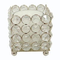 Votive Candles with Crystal Stands-4