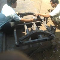 4 Wheel Trolley Axle fitting Process