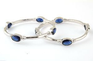 Ladies Silver Bangles
