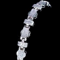 Mens Silver Fancy Bracelet