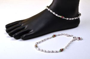 Silver Fancy Anklet 05