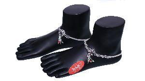 Silver Pendant Anklets