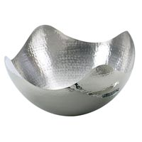 Stainless Steel Hammered Fruit Serving Bowl