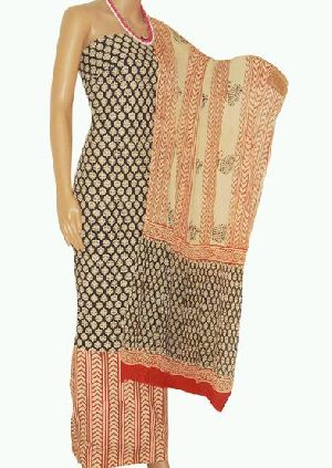 Bagru Block Print Cotton Salwar Suit Material