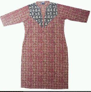 Bagru Print Cotton Kurtis