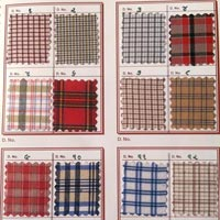 Checkered Uniform Shirting Fabric