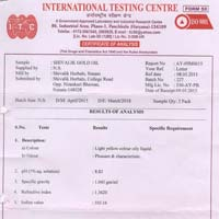 Shivalik Gold Oil Test Report
