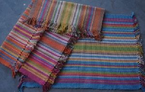 Handloom Multi Coloured Striped Durries